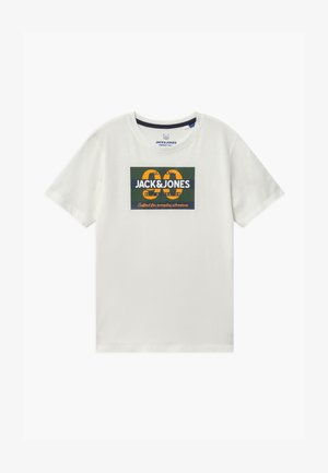 JORTONNI TEE CREW NECK - Camiseta estampada - cloud dancer