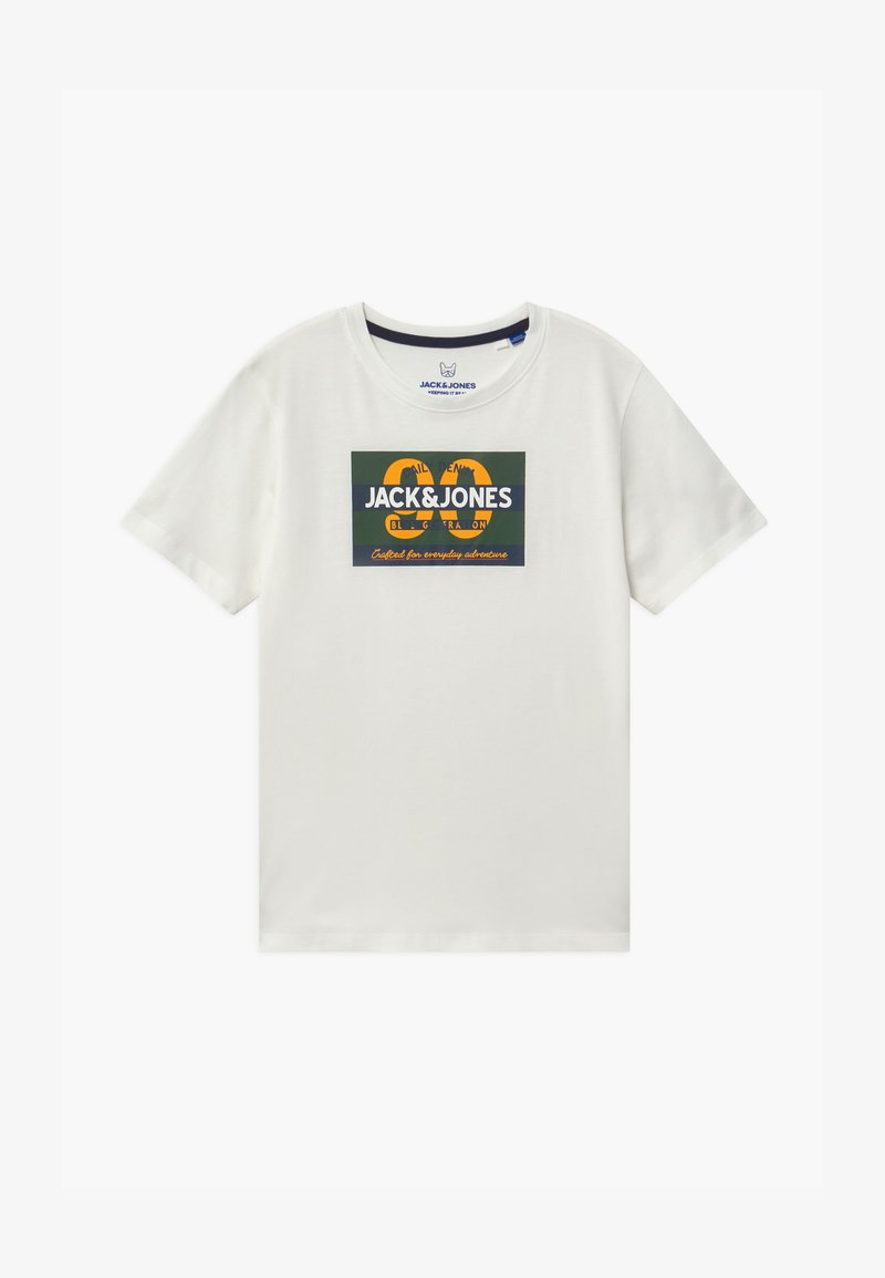 Jack & Jones Junior - JORTONNI TEE CREW NECK - Print T-shirt - cloud dancer