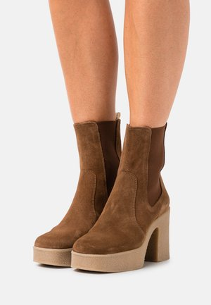 ENEA - High heeled ankle boots - brown