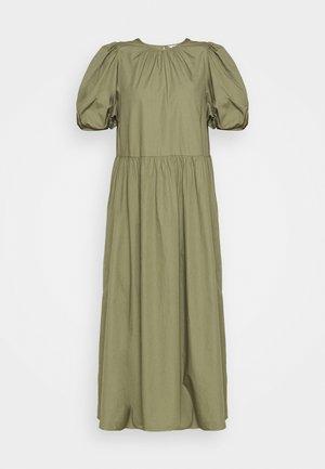ENSAFFRON DRESS - Maxi dress - deep lichen green