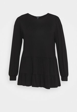 TIER PEPLUM - Camiseta de manga larga - black