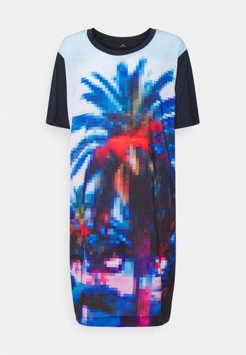 WOMENS PRINTED DRESS - Jersey dress - dark blue