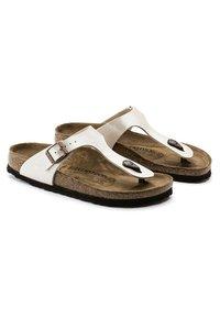 Birkenstock - GIZEH GRACEFUL - Sandalias de dedo - white - 5