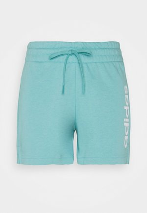 ESSENTIALS SLIM LOGO SHORTS - Sports shorts - mint ton/white