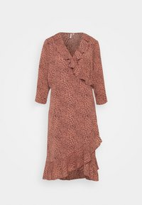ONLY Carmakoma - CARLUXMAJA WRAP DRESS - Day dress - cedar wood - 0