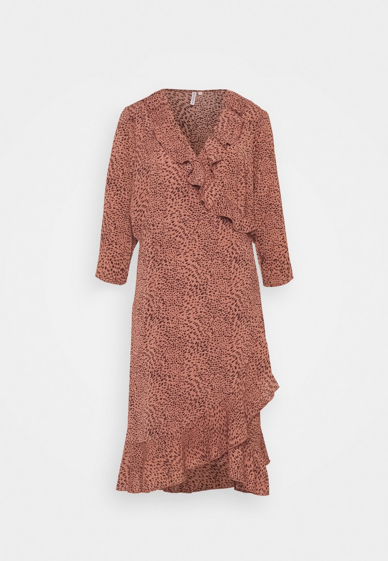 ONLY Carmakoma - CARLUXMAJA WRAP DRESS - Day dress - cedar wood