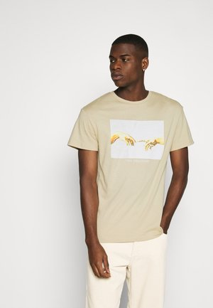 JORART CREW NECK - Print T-shirt - white pepper