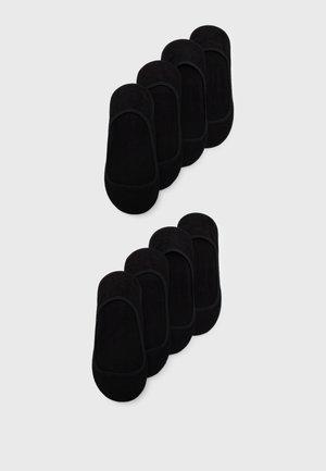 FOOTIES 8 PACK - Trainer socks - black