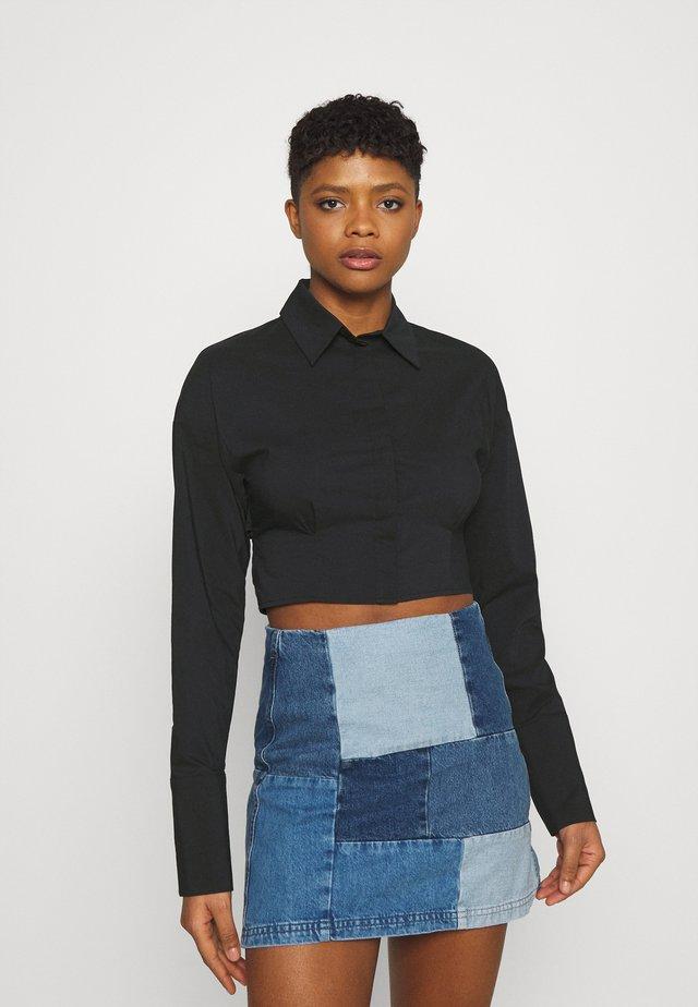 MEYA OPEN BACK SHIRT - Koszula - black