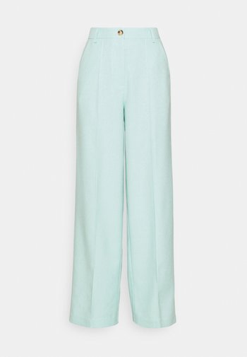 WIDE SUIT PANTS - Spodnie materiałowe - ice blue