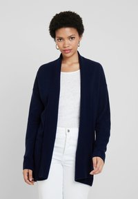 Benetton - OPEN CARDIGAN - Kardigan - dark blue - 0
