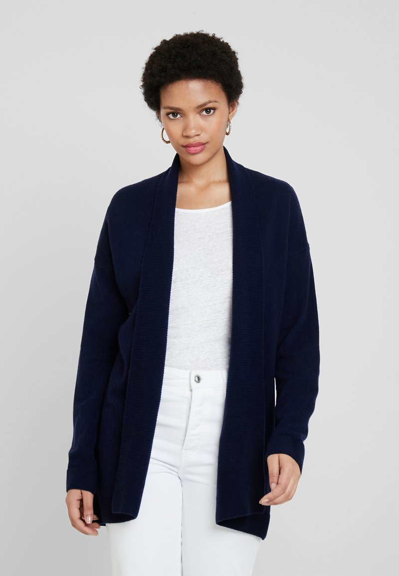 Benetton - OPEN CARDIGAN - Kardigan - dark blue