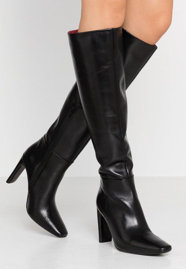 MALI-BOO - Kozačky na vysokém podpatku - black