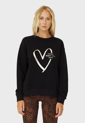 MIT PRINT - Sweatshirt - black