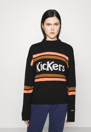 WITH CHEST STRIPES - Jumper - black