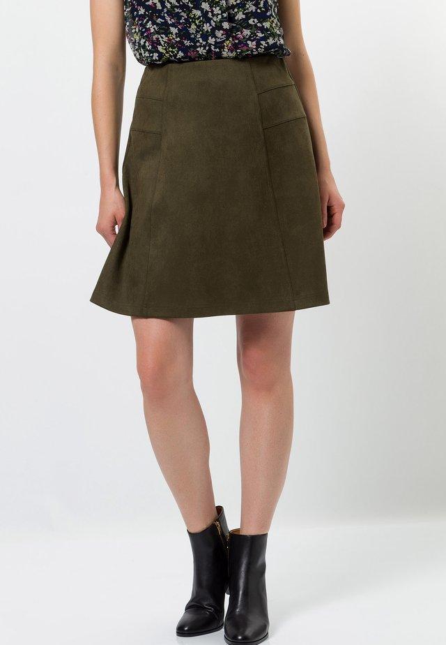 A-line skirt - dark moss