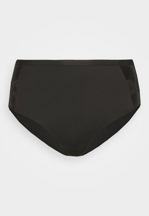 ROMANTIC FRENCH EMBROIDED HIGHWAIST PANTY - Underkläder - black