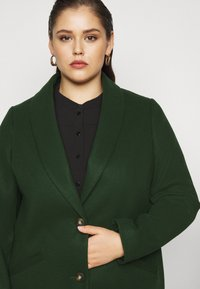 Dorothy Perkins Curve - MINIMAL SHAWL COLLARCROMBIE COAT - Short coat - green - 3