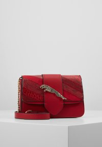 Topshop - LEAPING LEOPARD XBODY - Torba na ramię - red - 0