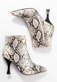 RAID Wide Fit - TILLY - High heeled ankle boots - beige - 3