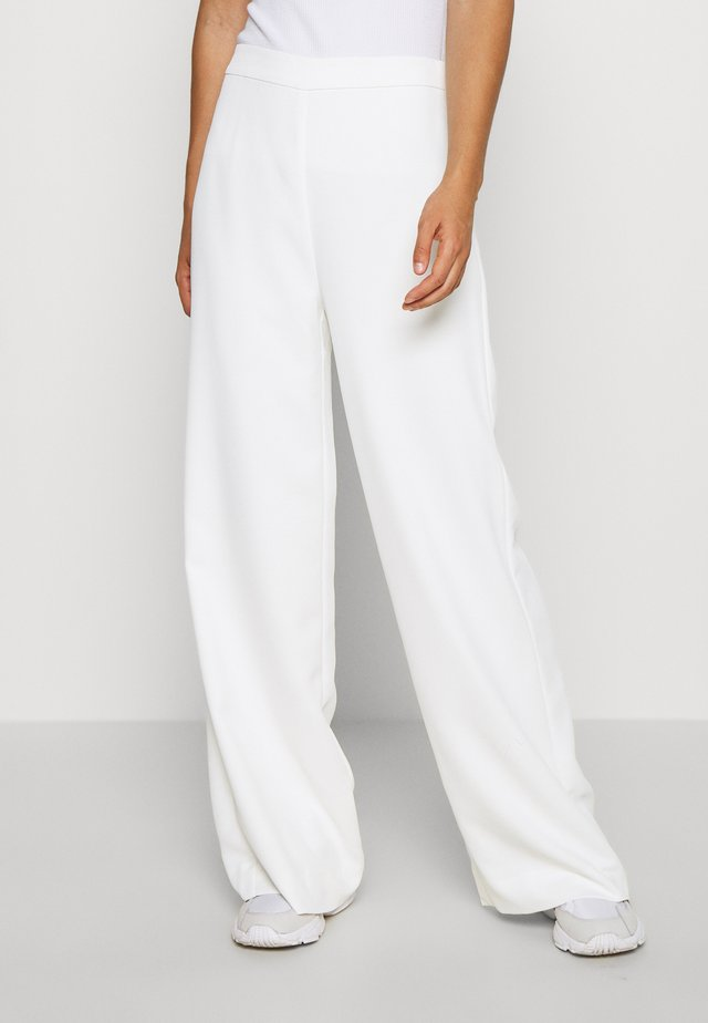 ABIGAIL WIDE LEG PANT - Trousers - porcelain