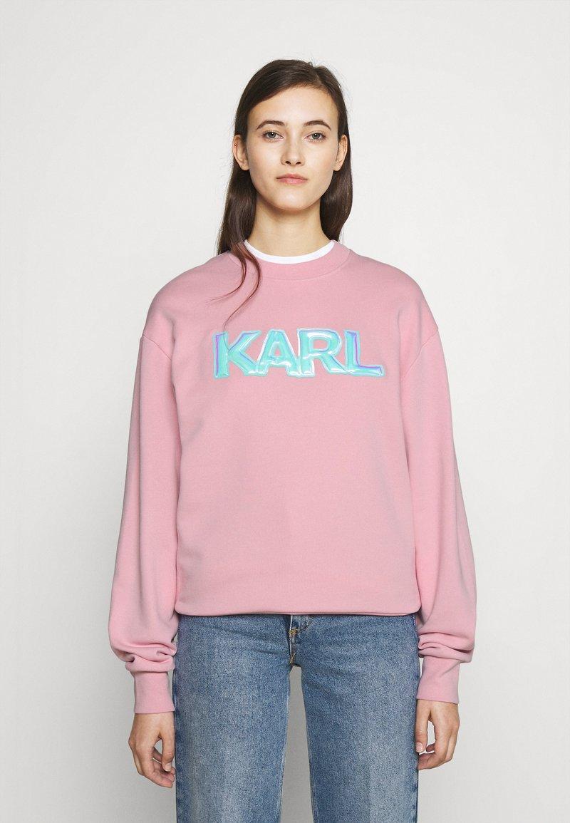 KARL LAGERFELD - BALLOON LOGO  - Sweatshirt - pink