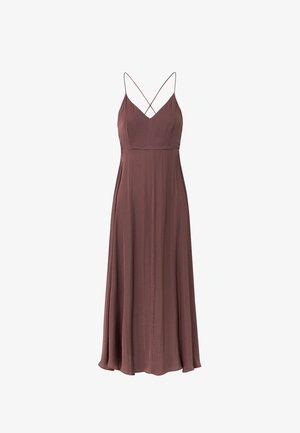 SATIN - Korte jurk - bordeaux