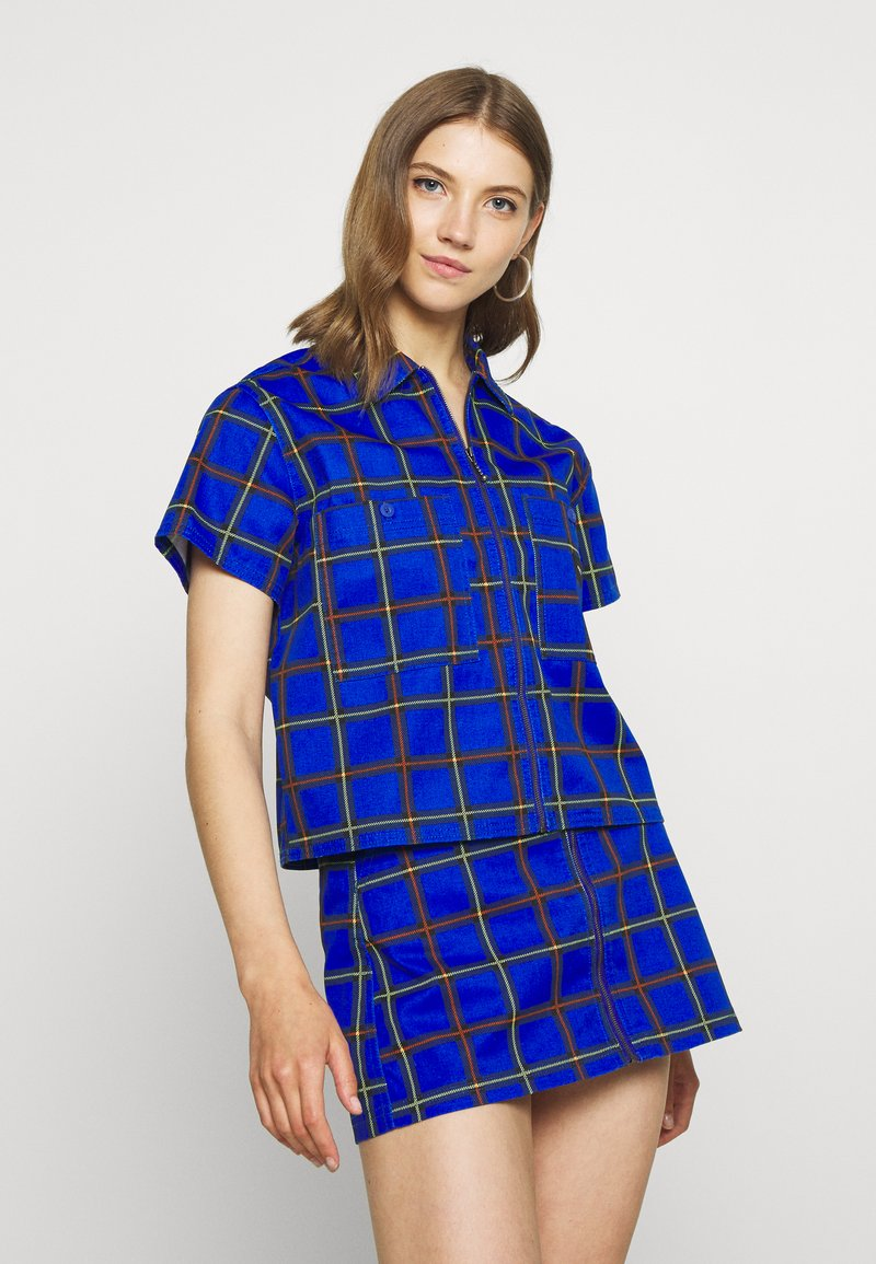Obey Clothing - BAILEY WORK - Button-down blouse - cobalt