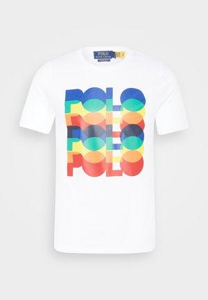 CUSTOM SLIM FIT LOGO JERSEY T-SHIRT - Print T-shirt - white