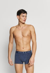 Jack & Jones - TRUNKS 3 PACK - Panties - navy blazer/dark grey melange - 0