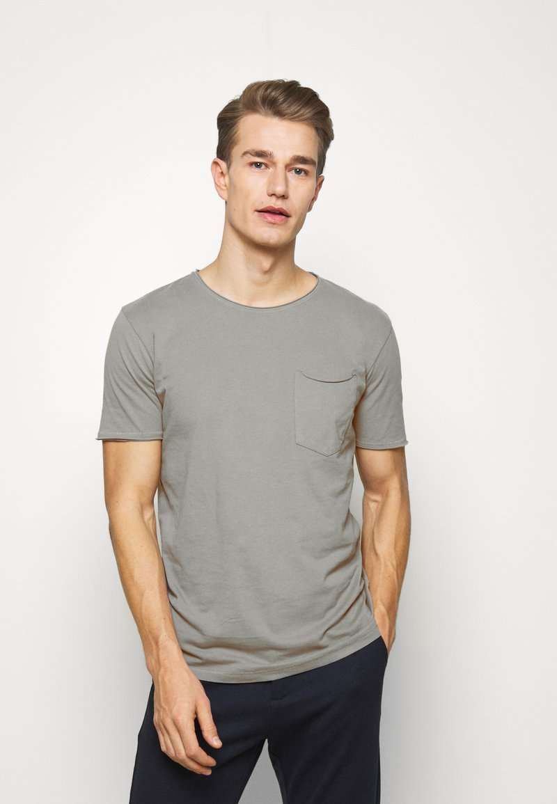 Lindbergh - WASHED TEE - Basic T-shirt - grey