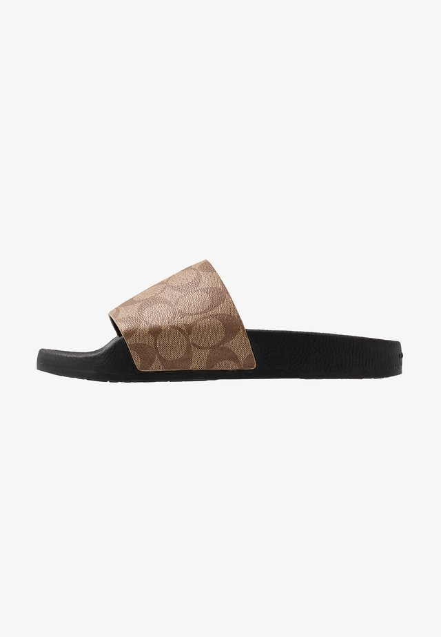 SIGNATURE POOL SLIDE - Mules - khaki