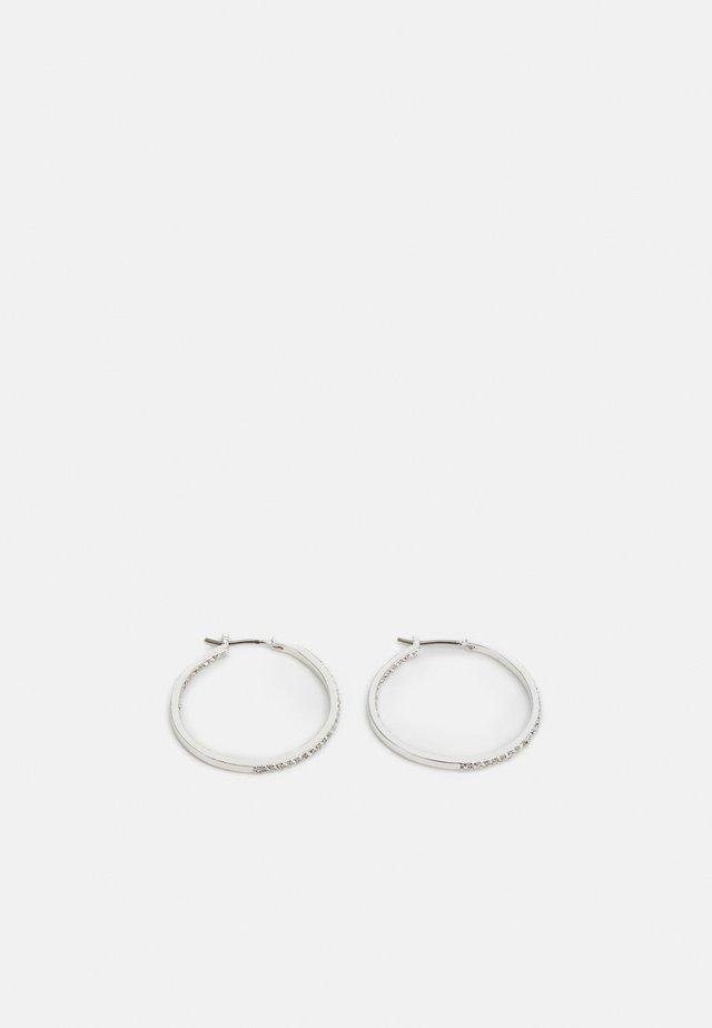 BASIC HOOP - Boucles d'oreilles - silver-coloured