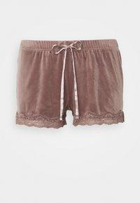 Hunkemöller - SHORT SCALLOP  - Pyjama bottoms - burnished mauve - 0