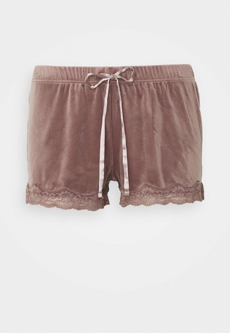 Hunkemöller - SHORT SCALLOP  - Pyjama bottoms - burnished mauve