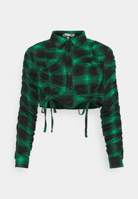 Missguided Petite - RUCHED DETAIL CHECK  - Skjorte - green - 0