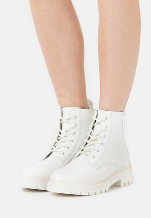 MID BOOT LACEUP ZIP  - Lace-up ankle boots - bright white
