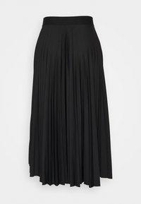Esprit - PLISEE SKIRT - Jupe plissée - black - 1