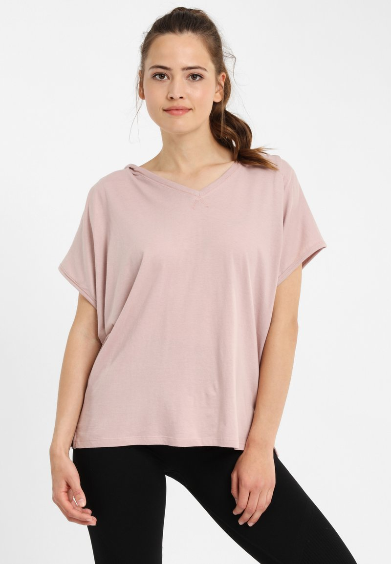 PONCHO COMPANY - T-shirt basic - mauve
