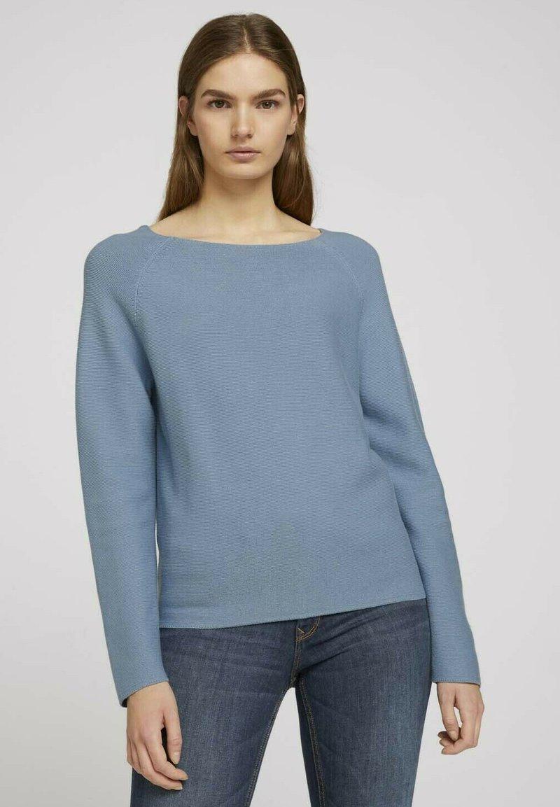 TOM TAILOR DENIM - Pullover - soft mid blue