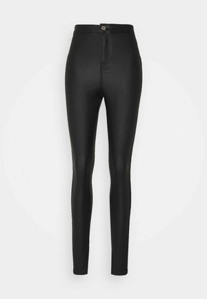 COATED SPLIT VICE  - Džíny Straight Fit - black