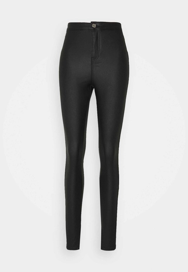 COATED SPLIT VICE  - Straight leg jeans - black
