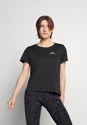 RUSH ENERGY NOVELTY - Camiseta estampada - black/jet gray/metallic silver