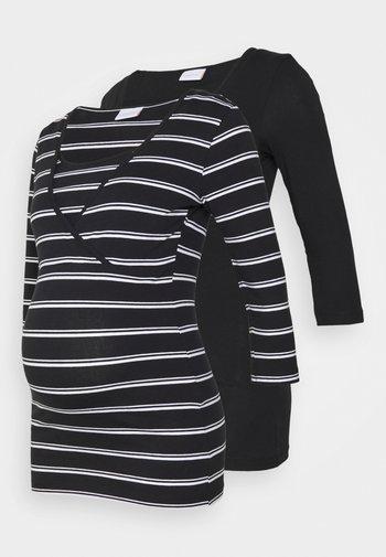 MLLEA TESS MIX 2 PACK - Long sleeved top - black