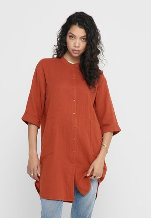 Button-down blouse - red ochre