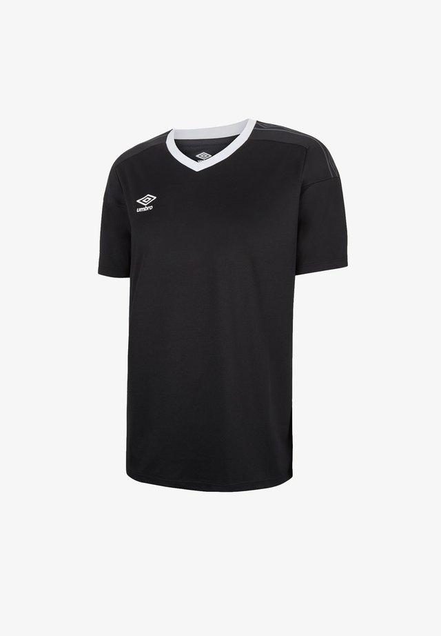 Basic T-shirt - schwarzweiss