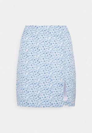 PAMELA REIF X ZALANDO FRONT SLIT RECYCLED MINI SKIRT - Mini skirt - blue