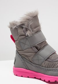 Sorel - WHITNEY VELCRO - Talvisaappaat - quarry/ultra pink - 5
