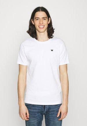 FITTED BACK PRINT SCRIPT - Print T-shirt - white