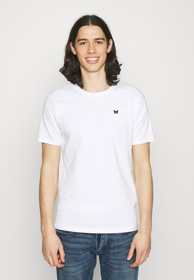 FITTED BACK PRINT SCRIPT - T-shirt imprimé - white